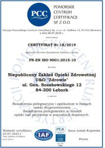 Proces Certyfikacji ISO 9001:2015